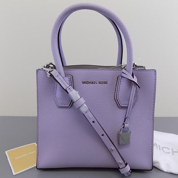 MICHAEL KORS  228 MERCER Purple Tote PURSE Handbag fef2a585d94bd